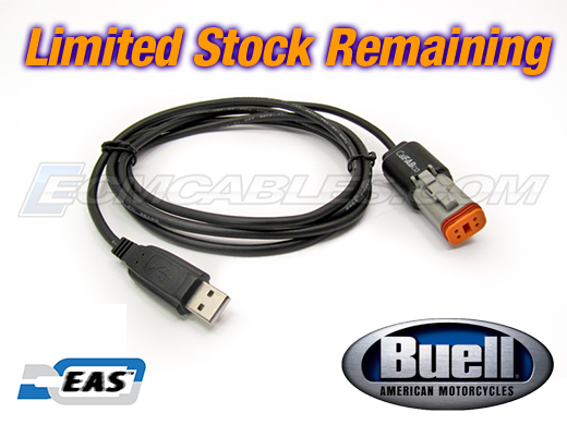 Buell ECM Spy/TPS Reset Direct Link USB Programming Tuning Black Cable